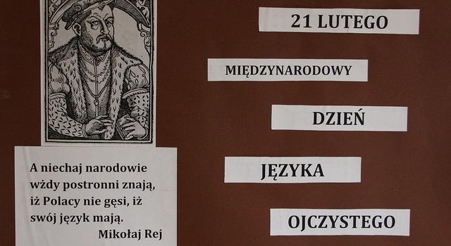 Międzynarodowy Dzień Języka Ojczystego Zespół Szkół Nr 1 W